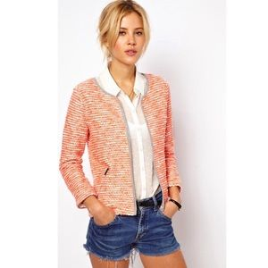 ASOS Textured Blazer Jacket in Fluro Boucle Sz 10
